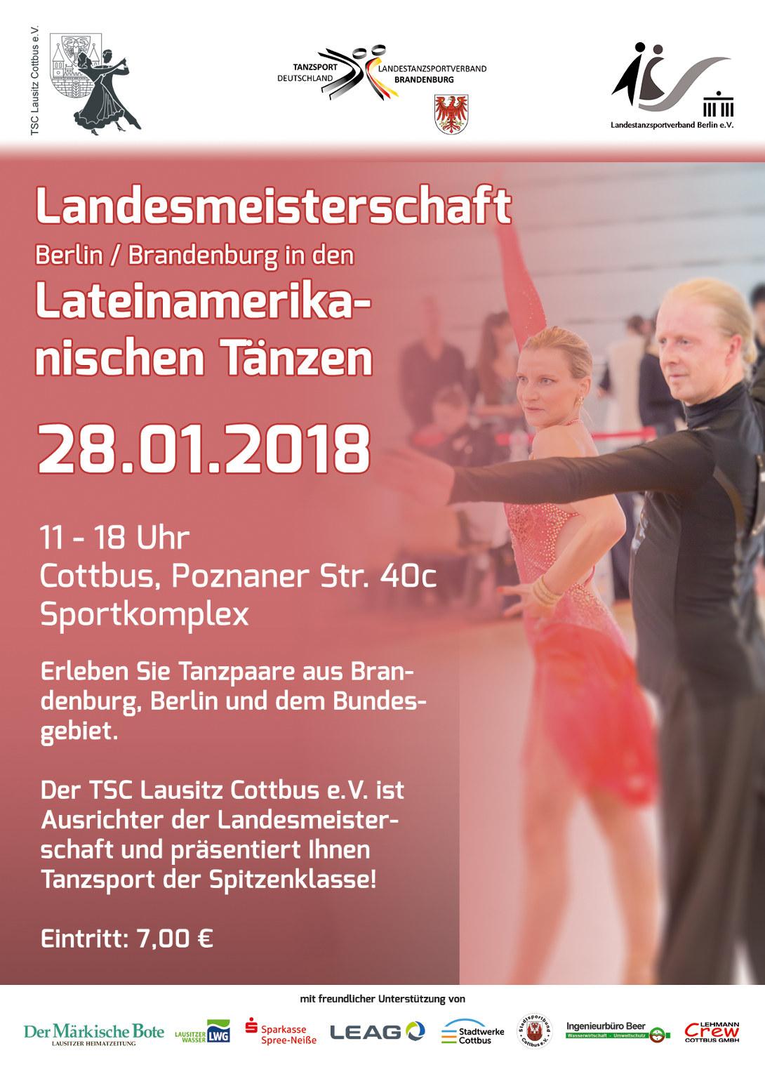 Landesmeisterschaften in Berlin/Brandenburg in den Lateinamerikanischen Tänzen